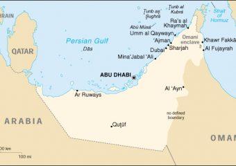 Emirati Arabi Uniti mappa